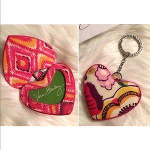 🌸Vera Bradley Heart Keychain Clementine🌸